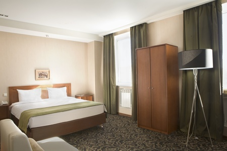 Interior of a hotel bedroom Stock Photo - 12738464