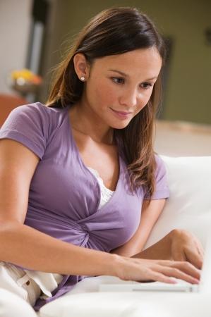 wireles: Woman Using Laptop