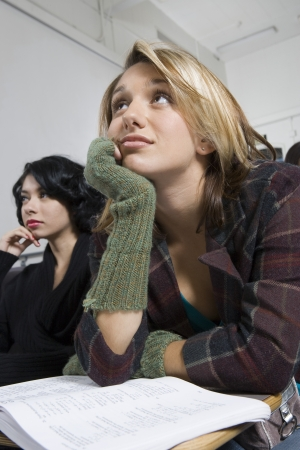 講堂の大学生 写真素材