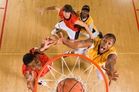 basketball court: Vue de match de basket-dessus bord