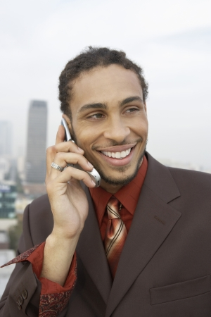 Businessman on a Cell Phone Stock Photo - 18833471