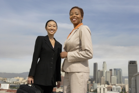 racially diverse: Confident Businesswomen