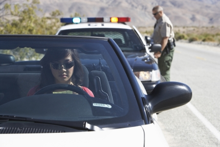 Police car: Woman Pulling Over for a Cop