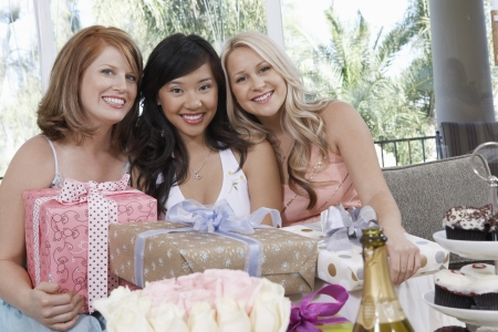 customs and celebrations: Friends Giving Gifts at Bridal Shower