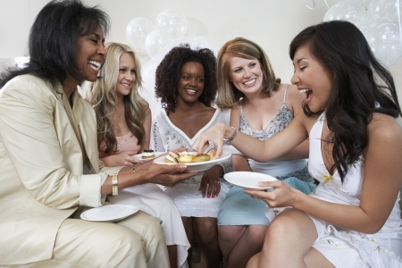 ethnic customs: Friends Sharing Treats at Bridal Shower