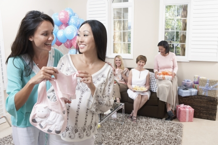 early pregnancy: Friends Enjoying a Baby Shower