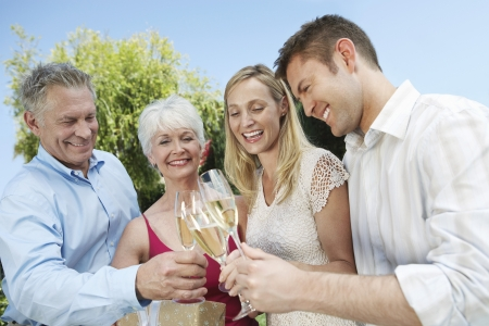 skoal: Family Toasting with Champagne