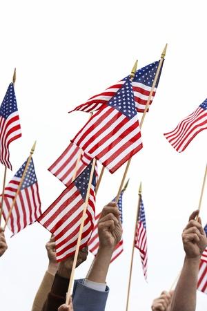 fervour: People Waving American Flags