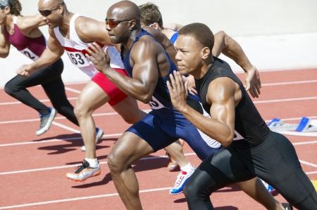 athlete running: Race
