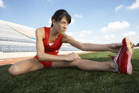 beforehand: Track Athlete Stretching