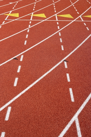 running track: Lane Marks on Running Track
