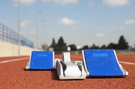 athletic gear: Empty Starting Block LANG_EVOIMAGES
