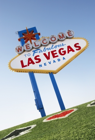Las Vegas Welcome Road Sign Stock Photo - 18800414