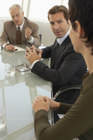 dictating: Businesspeople in conference meeting