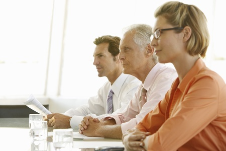 decisionmaking: Businesspeople in Meeting LANG_EVOIMAGES