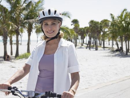 early sixties: Senior Woman Cycling