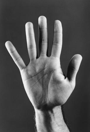 raise your hand: Open Hand