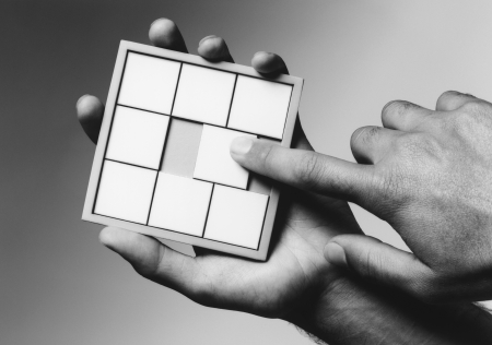 Hands Holding Puzzle Stock Photo - 18885713