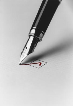 opting: Pen Checking Box