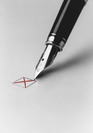 decisionmaking: Pen Checking Box