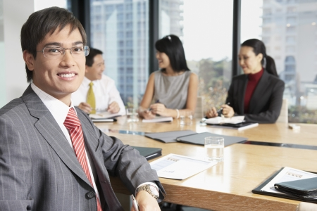 Businessman in Meeting Stock Photo