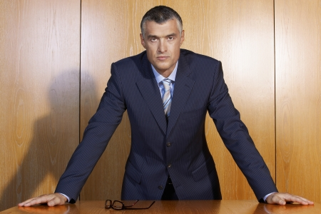 early 40s: Serious Businessman