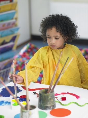 ethnic mixes: Elementary Student in Art Class