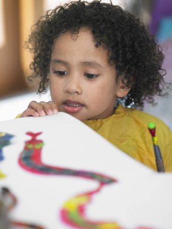 ethnic mixes: Elementary Student in Art Class