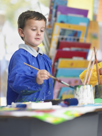 elementary student: Elementary Student in Art Class