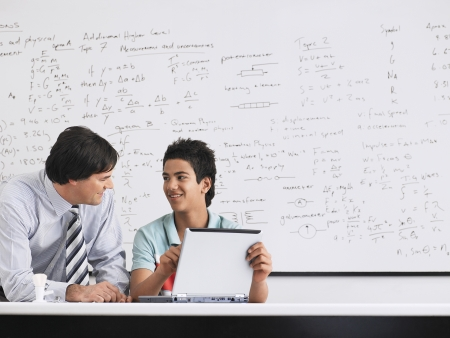 dry erase: Teacher and Student in Math Class