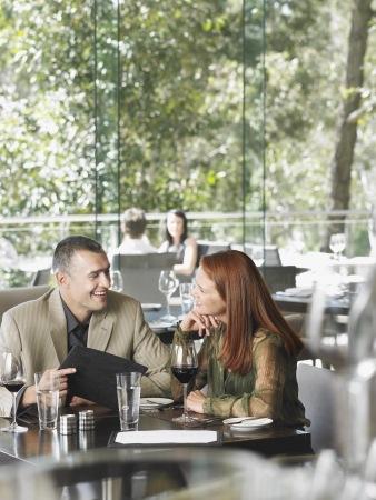 two people with others: Couple in Restaurant