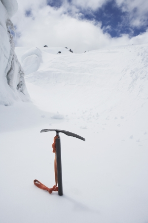 abandoning: Ice Axe in Snow