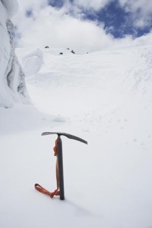 ice axe: Ice Axe in Snow