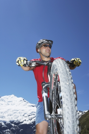 mountainbiking: Mountain Biker in Mountains