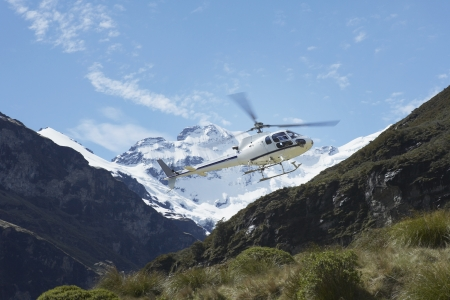 going nowhere: Mountain Rescue Helicopter in Mountains LANG_EVOIMAGES