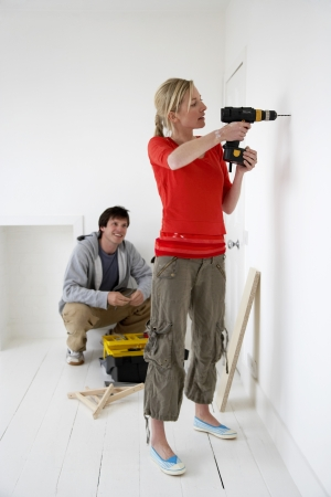 reversal: Couple working on their new home