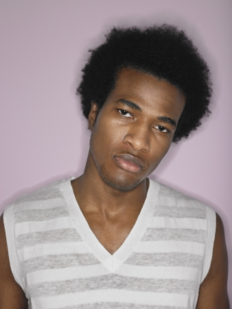 hair blacks: Young Man Wearing Tank Top