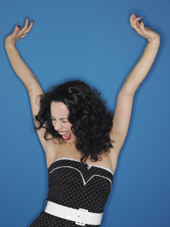 exuberant: Excited Young Woman