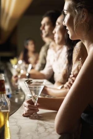 Woman at Bar Stock Photo - 18885366