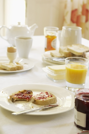 Breakfast With Toast and Jam Stock Photo - 18885465