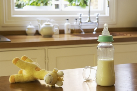 Baby Items on Kitchen Counter Stock Photo - 18885913
