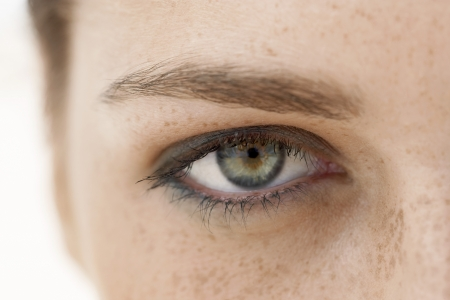 Young Womans Eye Stock Photo