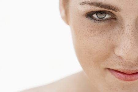 freckled: Young Woman with Freckles LANG_EVOIMAGES