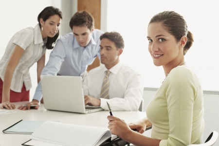 fortysomething: Businesspeople in Meeting LANG_EVOIMAGES