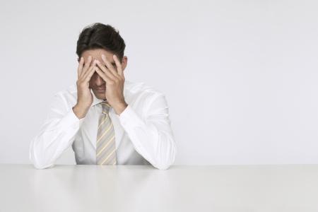 nervousness: Stressed out Businessman LANG_EVOIMAGES