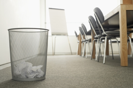 corporate waste: Trash Can in Meeting Room