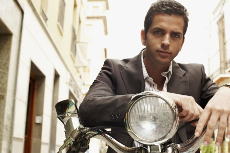 Businessman With Motorcycle