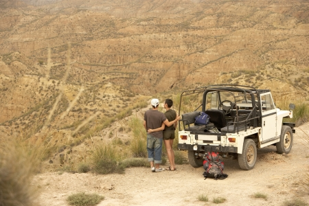 rovers: Hikers in Land Rover