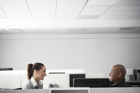 racially diverse: Two Office Workers