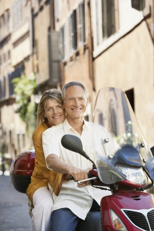 late fifties: Older Couple on Vacation